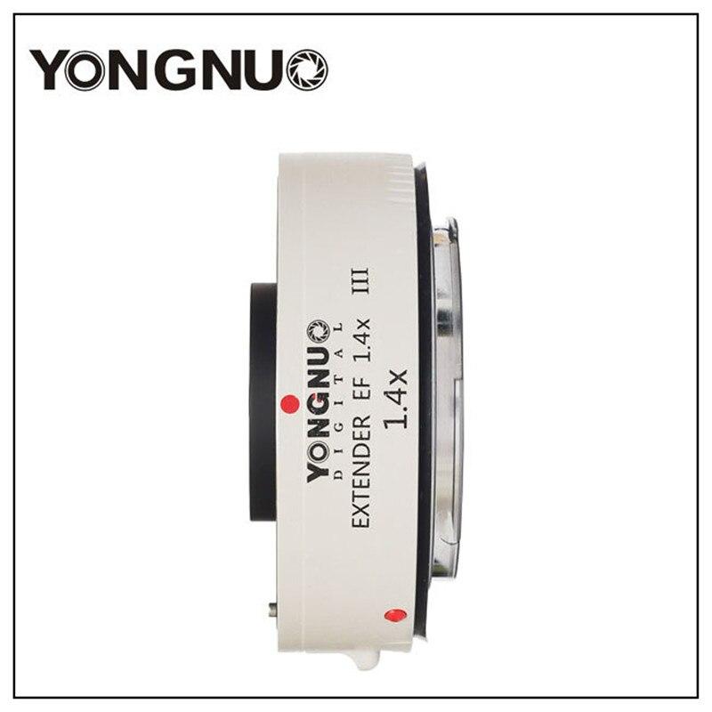 Yongnuo YN1.4XIII prolongateur de YN-1.4XIII EF 1.4X objectif de mise au point automatique téléconvertisseur pour Canon autofocus complet 1D X 1Ds 1D 70D 7D 80D 7DI - 3