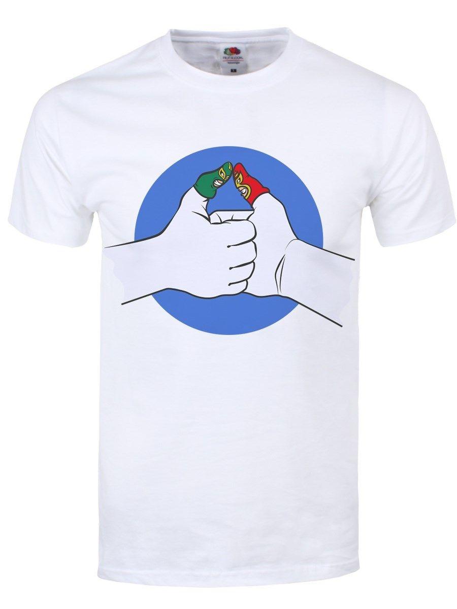Я предсказать большого пальца войны Для мужчин; белая футболка ...
