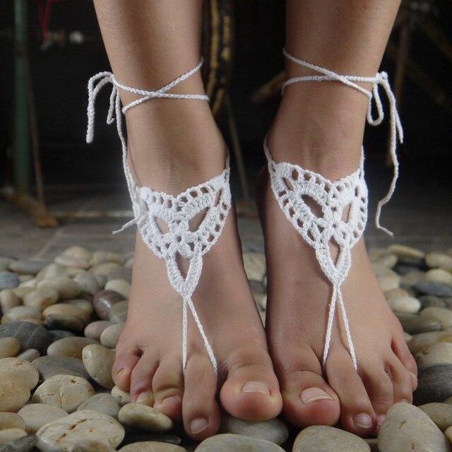 Beach wedding shoes Barefoot Crochet Sandals Beach wedding