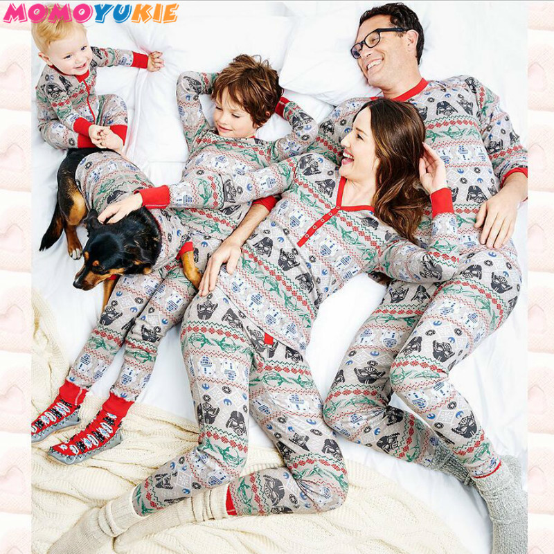 Family Christmas Pajamas Set Warm Adult Kids Girls Boy Mommy Sleepwear Nightwear Mother Daughter Clothes Matching Family Outfits цена