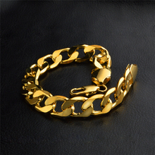 BOAKO Plating Gold Bracelet Men Hiphop Chain Homme Birthday Gift Jewelry hombre pulsera Rapper homens pulseira Z5