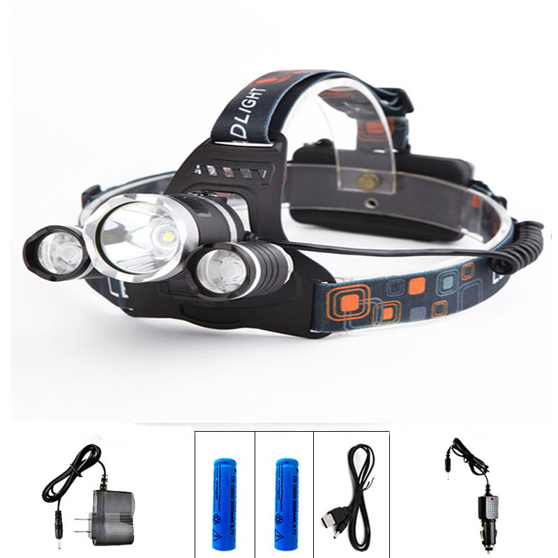Купить с кэшбэком LED Headlight Chips kafa feneri lintern Head Lamp Flashlight Lanterna 4 Switch Model Led Headlamp Choose For Camping