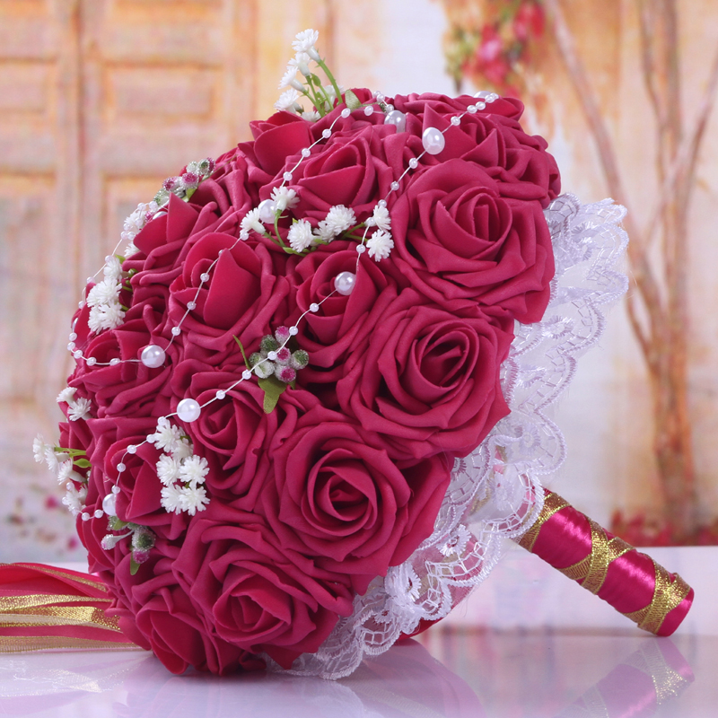BQ05 (7)  Synthetic Lady Marriage ceremony Bouquets for Bridals Rose Flowers De Mariage Bridal Bouquet Marriage ceremony Holder Bouquet Peonies Equipment HTB1frxVgBjTBKNjSZFwq6AG4XXa4
