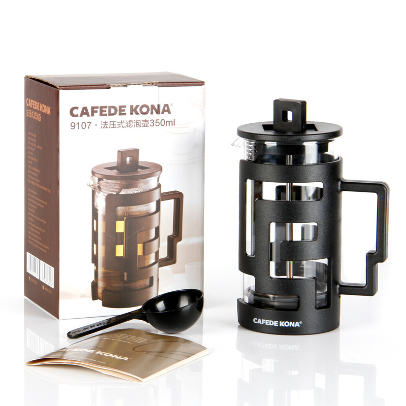 Image 5 - Cafetiere French Press Coffee Maker 350ML 800ML Percolators Coffee Maker Coffee Pot With Food Grade Glass wall Give a SpoonCoffee Pots   -