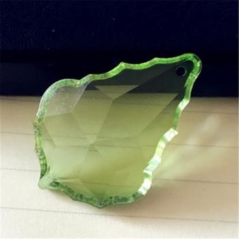 102pcs/Lot Maple Leaf Shape 63mm Lt Green Crystal Chandelier Pendants/Crystal Chandelier Trimming Pendants for Home Decoraition