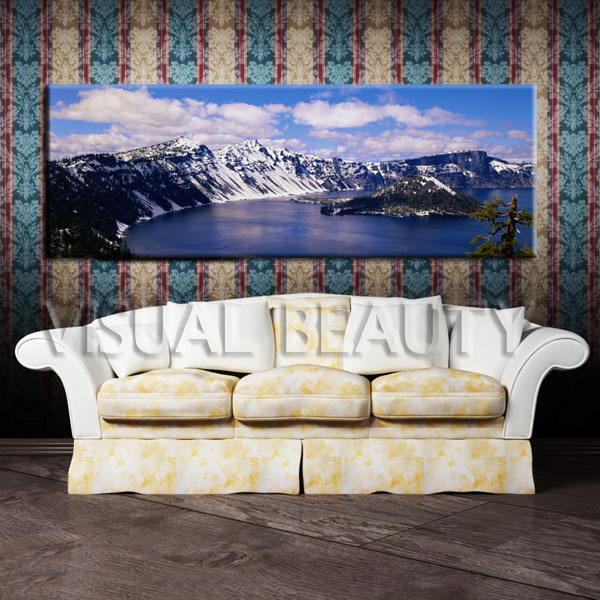 FREE SHIPPING Wide View Charming Scenery Panoramic Canvas Wall Art ...