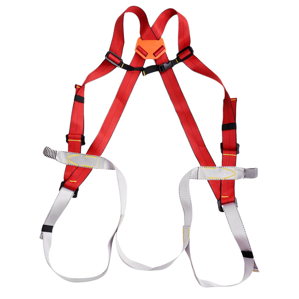 Climbing Accessories Fall Protection Rappelling Safety Belt Adjustable Body Safety Waist Harness Climbing Belt Fall Protection