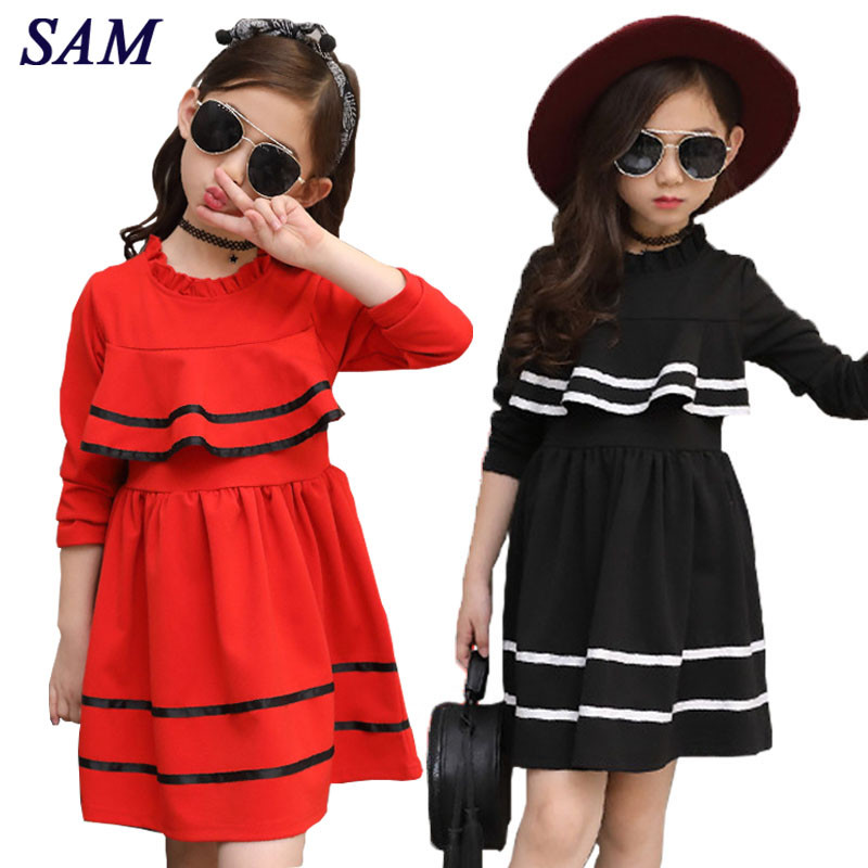 Girls Princess Dress Winter Long Sleeved A-line Evening Dresses Children Fashion Clothes Baby Girl Costume Kids Party Dress childdkivy girls a line dress 2018 spring baby girls princess dress for party kids dresses for girls children fashion clothes