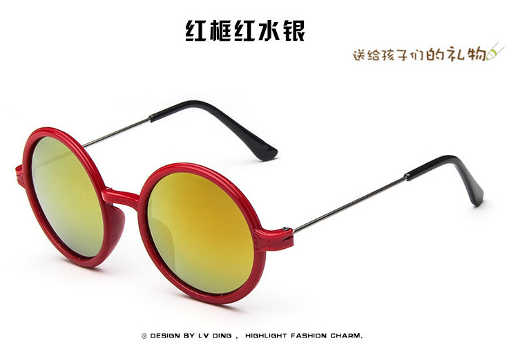 kids designer sunglasses xt9b  High Quality Children Sunglasses Luxury Brand Designer Kids Glasses Round  Mirror Coating Sunglasses Summer Google Oculos