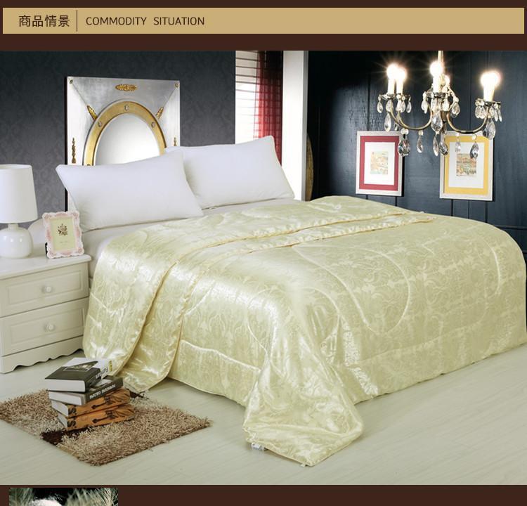 b5576a7ac9fa Chinois mûrier couette en soie été couette couvre-lits matelassés literie  pour lit double blanc rose crème maison texile 1.5 KG