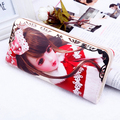 Fashion Princess zipper Women Wallets Cartoon Sweet Beautiful Lady Cell Phone Pocket Large Style Wallet Personality Hand  Purse