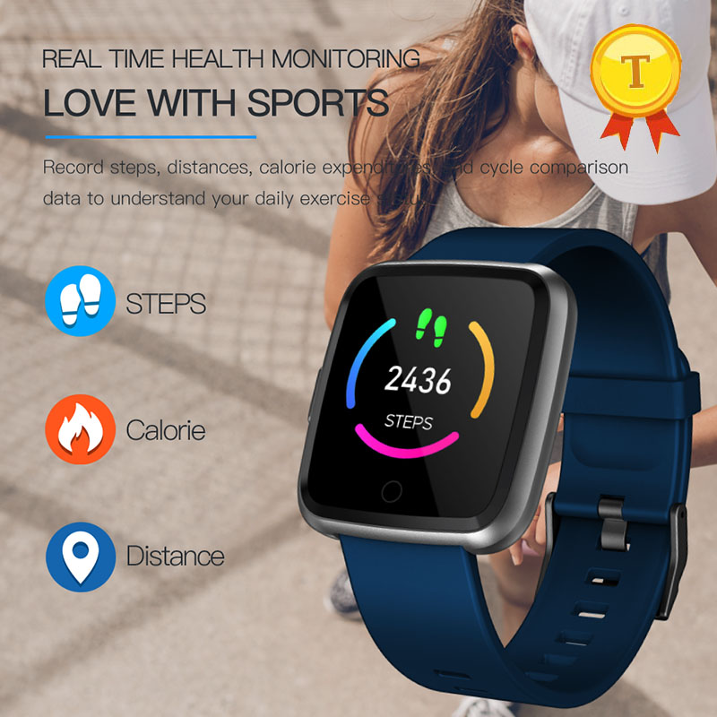 IP67 Waterproof Colorful screen Fitness Bracelet band wristband with Heart Rate Blood pressure oxygen monitor Sport