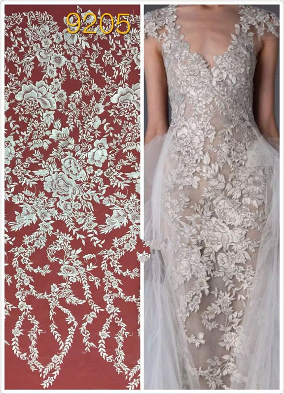 Bridal Embroidered African French Lace Fabric David 027 High quality African Tulle Lace Fabric