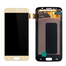 50 PCS/Lot LCD untuk Samsung Galaxy S6 G920 G920F LCD Display dengan Touch Screen Digitizer Majelis Penggantian Emas/Gelap biru