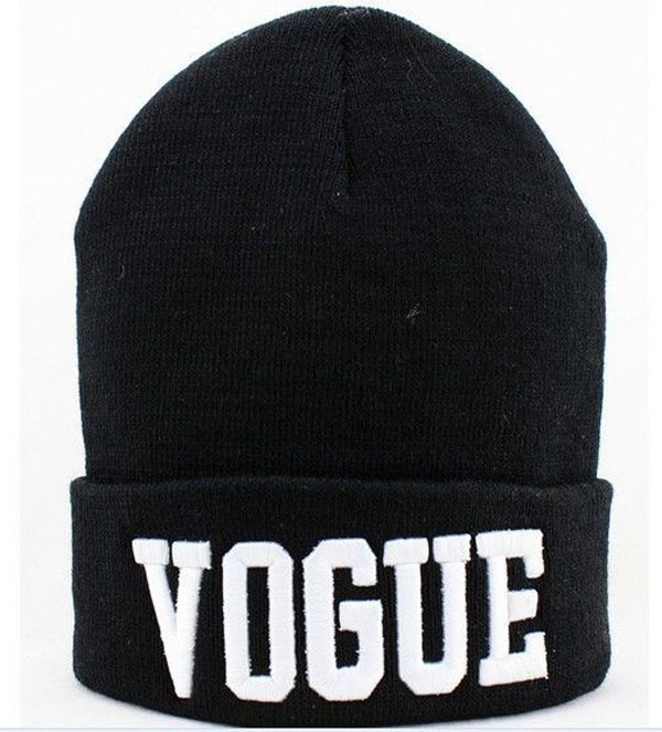 Skullies & Beanies VOGUE Beanie 2015 New Sports Winter Cap Men Hat Knitted Winter Hats Hip Hop Fashion Unisex Caps 2pc skullies