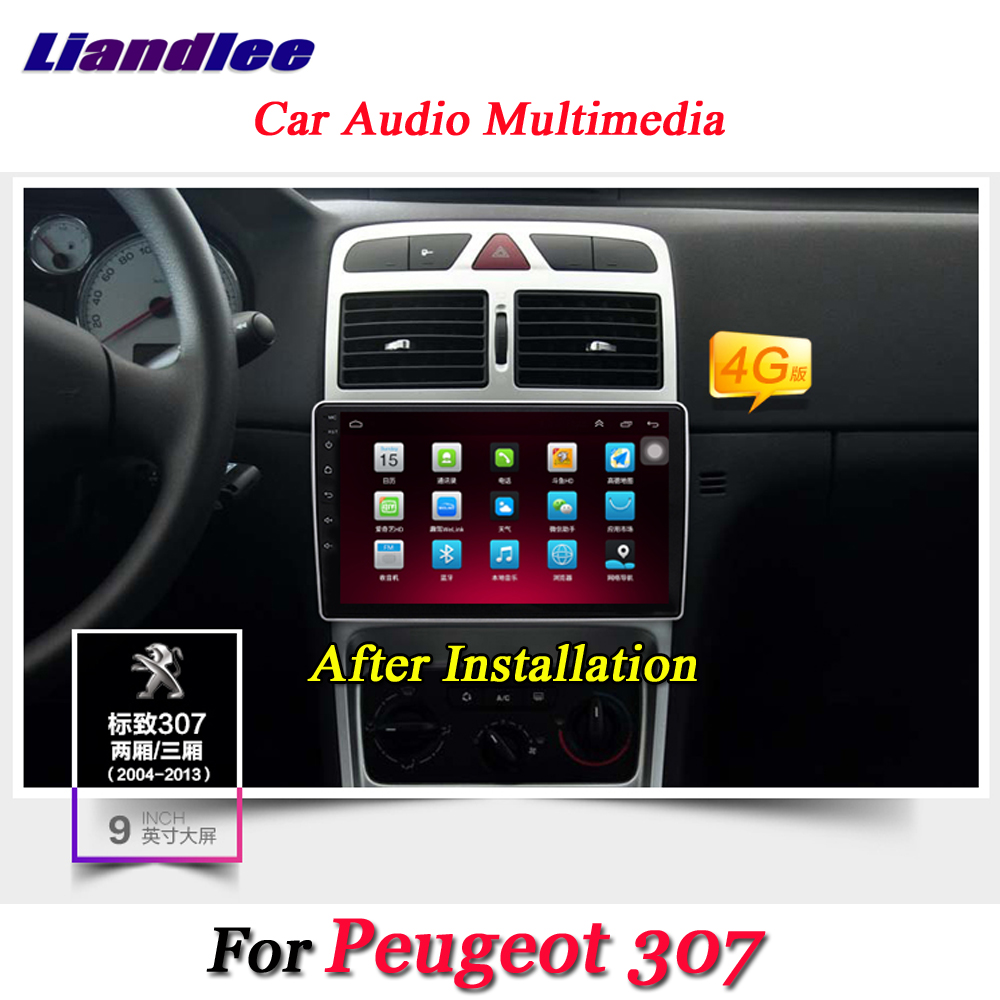 Liandlee Voiture Système Android Pour Peugeot 307 2001 ~ 2014 Radio GPS Navi CARTE Navigation Wifi BT HD Écran Multimédia PAS de Lecteur DVD
