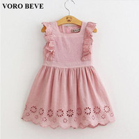 New Summer Kids Clothes Girl Dress 2016 Children Clothing Princess Dress Embroidery Clothes Vestidos