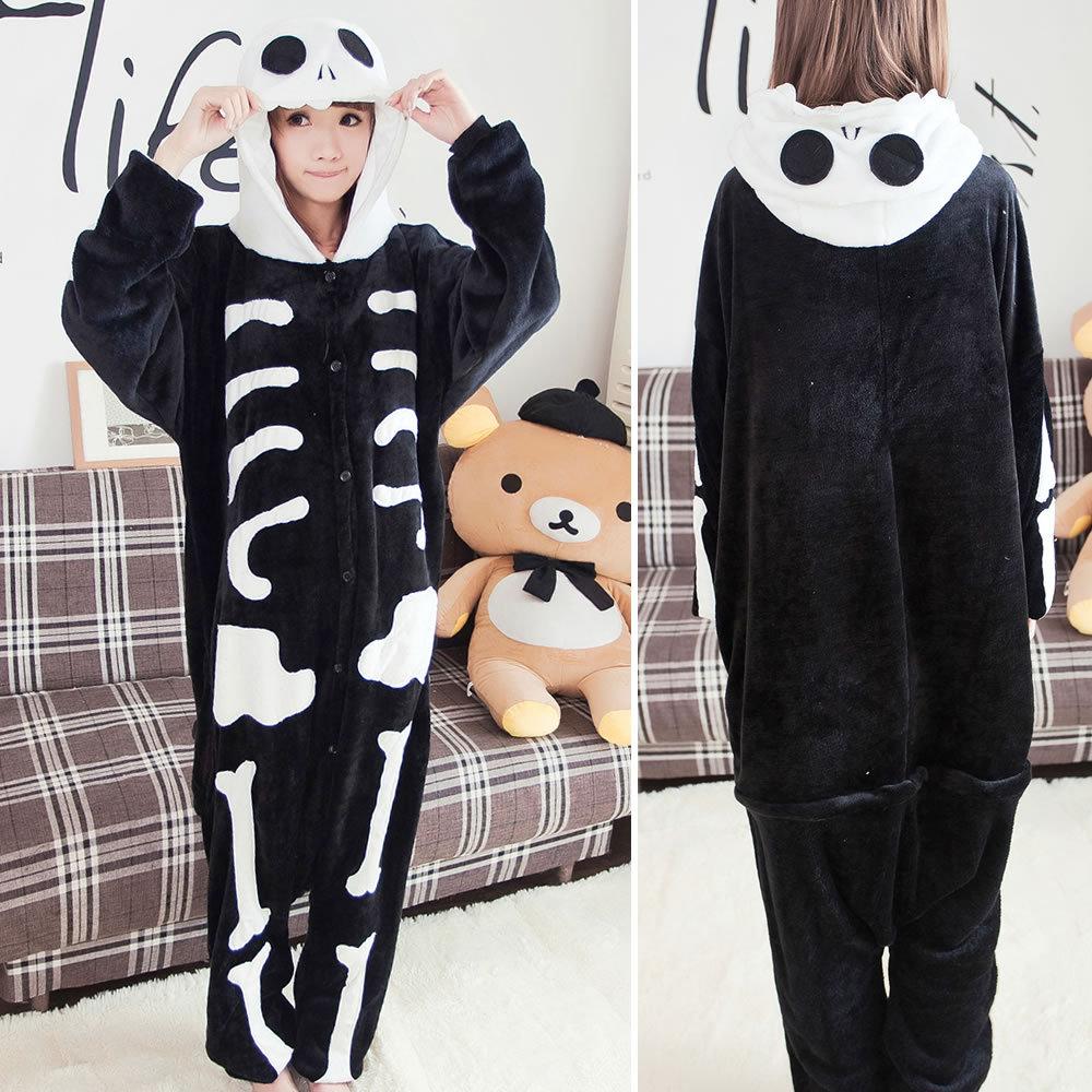 Unisex Winter Warm Cosplay Pajamas Unicorn Stitch Panda  Adults Animal   Onesies Pajamas Flannel Sleepwear Hoodie For Women Men