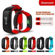 Smarcent P1 Smart группа крови Давление монитор сердечного ритма Смарт Браслет Waterpoof Bluetooth SmartBand браслет для IOS Android