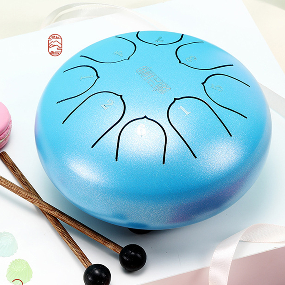 6 Inch 8 Notes Tank Music Education Professional Instrument Carry With Mallets Mini G Tune Steel Tongue Drum C Key Gift Hand Pan6 Inch 8 Notes Tank Music Education Professional Instrument Carry With Mallets Mini G Tune Steel Tongue Drum C Key Gift Hand Pan