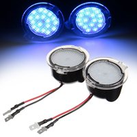 2PCS 18 LED Blue Side Mirror Puddle Light Direct Replacement Low Power Consumption
