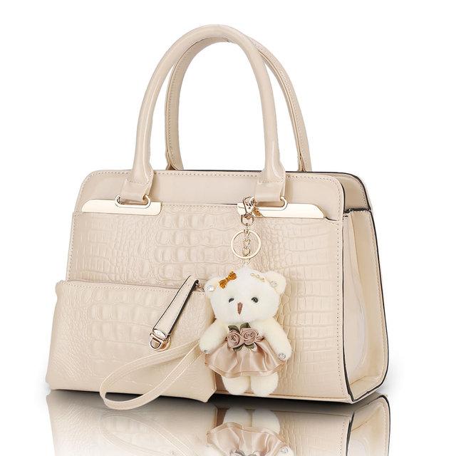Famous Brand Women Bag Brand 2017 Fashion Women Messenger Bags Handbags PU Leather Female Bag 2 Piece SMYYG-C0048