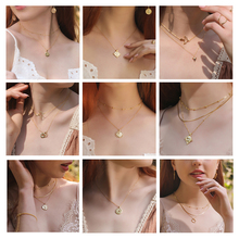 PONYKISS Trendy 100% 925 Sterling Silver Hot Fashion Golden Geometric Pendant Necklace Women Party Delicate Accessory Chic Gift