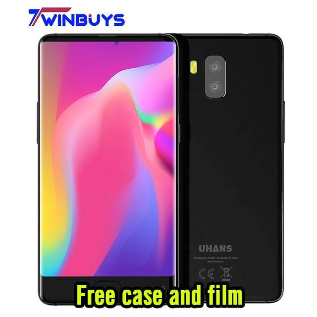 """UHANS MX 3G Smartphone 5.2 """"HD bisel-menos MTK6580 Quad A Core Android 7.0 2 GB + 16 GB 3000 mAh 8MP $ number MP Frente Teléfono Móvil de huellas digitales"""