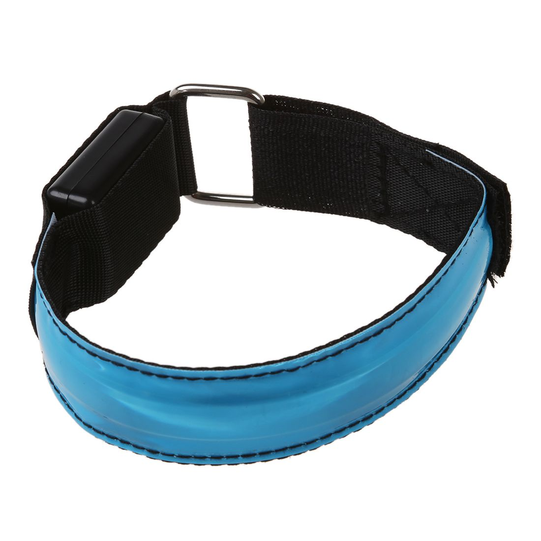 Blue Clear And Distinctive battery Not Included Led Safety Reflective Belt Strap Snap Wrap Arm Band Armband Running Bracelet