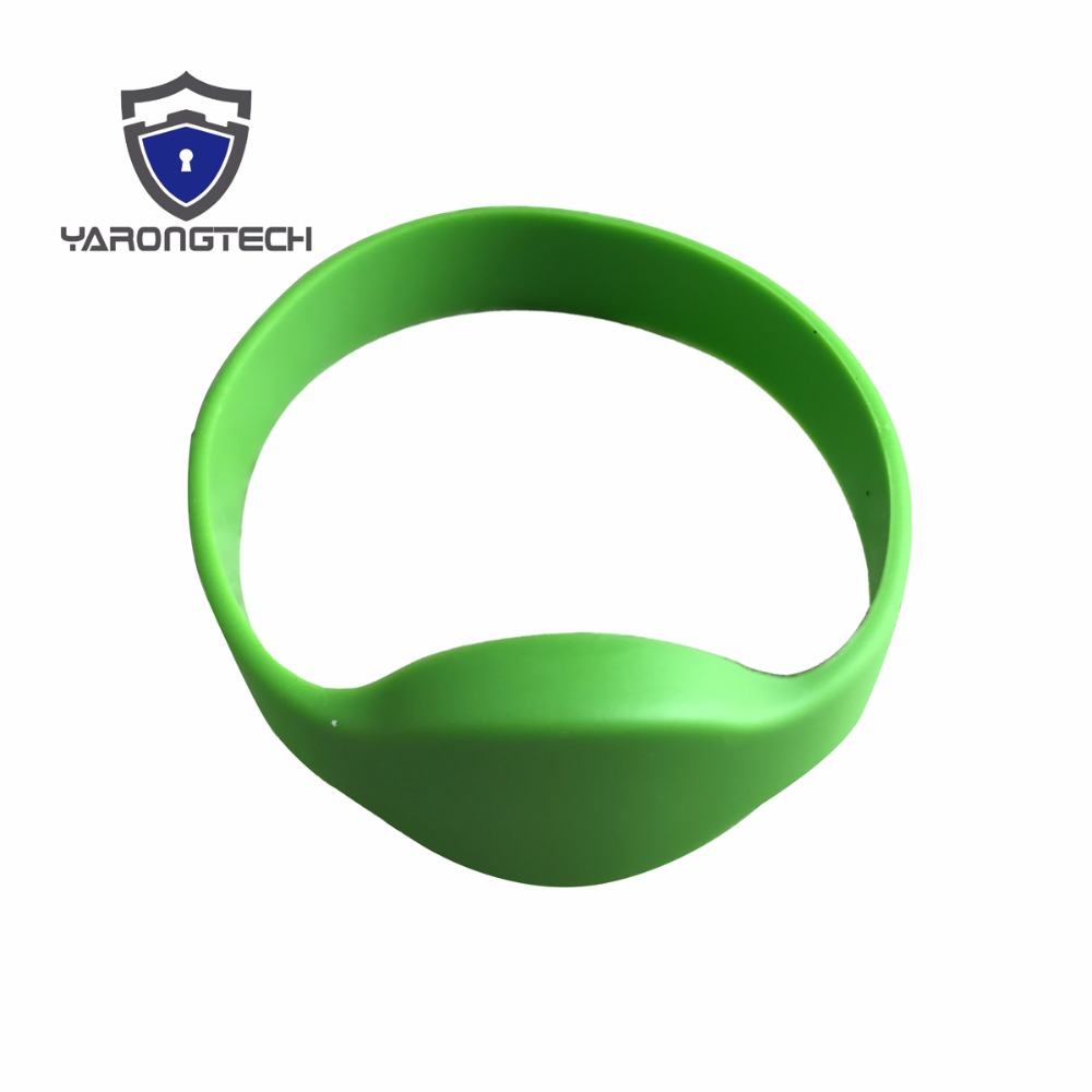 10 PCS 125KHZ EM4100 ISO Green ID Wristband Silicone Rfid Bracelet For Access Control