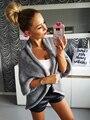 Kaywide 2016 Осень Зима Женский Открыть Стежка Свитера Женщины Толстые Теплые Европейский 3/4 Рукавом Завышение Трикотажные Кардиганы B2150