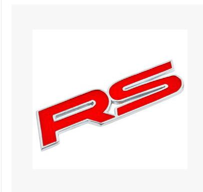 car the RS logo Fashion styling car goods for Mitsubishi Grandis Outlander Pajero LancerEvo Eclipse FOR AUDI BMW E46 STICKER