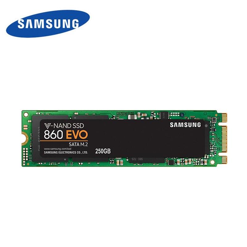 Samsung 860 evo 2280 SSD m2 500 GB 250 GB 1 to 2 to hdd SATA3 V-NADA à semi-conducteurs internes Drivesm.2 haute vitesse pour ordinateur portable ordinateur de bureau