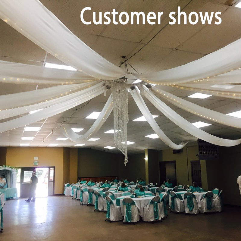 Aliexpresscom  Buy 2ftx32ft flat wedding ceiling drapery