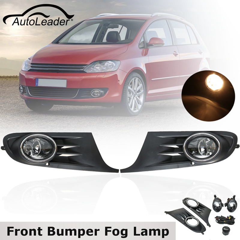 Pair 55W 12V Front Left Right Bumper Fog Light Lamp Bright Grilles w/ Harness For VW Golf 2008 2009 2010 2011 2012 2013 2014 12v 55w car fog light assembly for ford focus hatchback 2009 2010 2011 front fog light lamp with harness relay fog light