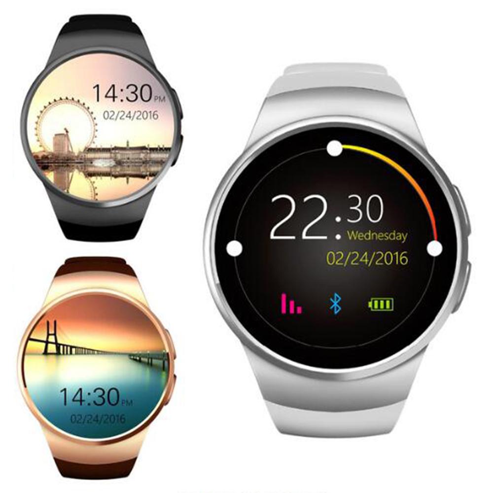 Prix pour Chaude KW18 Bluetooth smart watch Soutien SIM TF Carte Smartwatch Horloge Fréquence Cardiaque Fitness Montre-Bracelet pour Apple android Téléphone