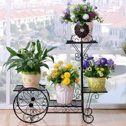 Soporte para plantas florero soporte para flor del metal interior estanterías para plantas soporte para plantas exterior estante de piso de metal balcón