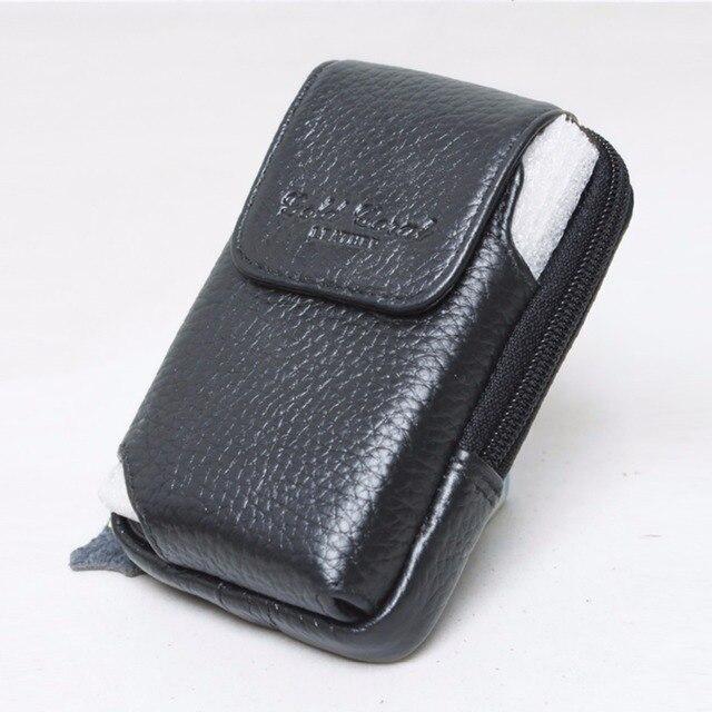 Los hombres de La Vendimia Mini Bolso de La Cintura Fanny Correa de Cuero Verdadero Genuino Diseñador paquete de Celular/Teléfono Móvil Caso Hip Bum piel de Vaca Bolso Pequeño bolsas