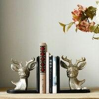 Европейские и американские страна творческая Античная Ретро декора домашнего интерьера гостиной стал голова оленя бук