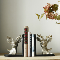 The European and American country creative antique retro decor decoration Home Furnishing living room became the deer head booke
