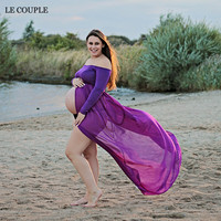 Maternity Photography Fancy Props Pregnant Dresses Chiffon Maternity Dresses Pregnancy Clothes Large Size