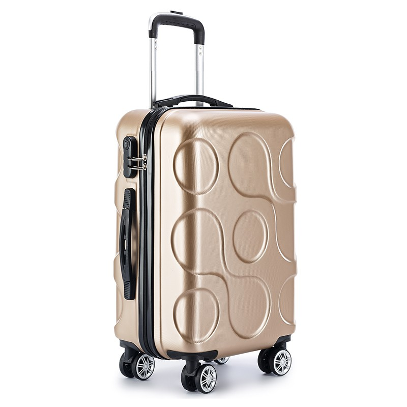 2018 NEW business ABS trolley case students Travel waterproof luggage rolling suitcase Boarding Password box Mute Cardan wheel