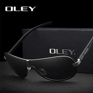 Image 2 - OLEY Brands Aluminum Polarized Driving Sunglasses for Men glasses Designer with High Quality Big frame rimless  sun glasse