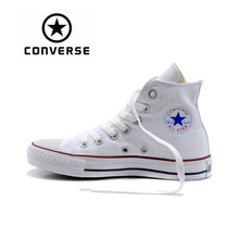 Genuine Black White Converse ALL STAR Sneaker Unisex High Top Skateboarding Shoes Women Men Lace-up Classic Canvas Sneaksers(China)