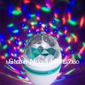Free Shipping Full Color 3W E27 RGB LED Small Crystal Magic Ball Light Rotating DJ party stage Bulb rotating Lamp Bar decoration