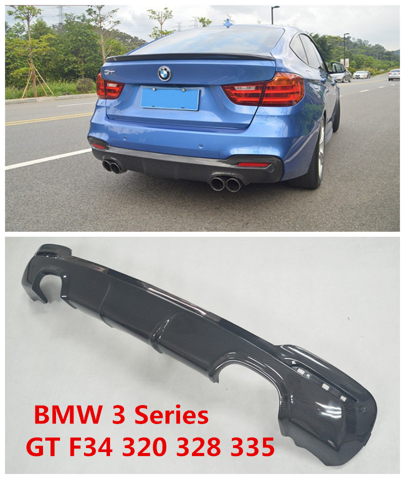 Carbon Fiber Rear Lip Spoiler For BMW 3 Series GT F34 320