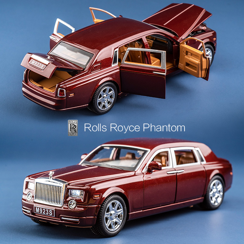Alloy 1 24 Rolls Royce Phantom Lengthened Cohes Diecast Toys Vehicles Models Metal Cars mini boy