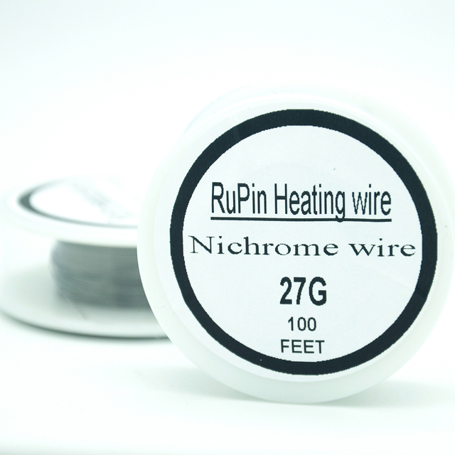 RuPin Nichrome wire 27 Gauge 100 FT 0.35mm Resistance Wrie ...