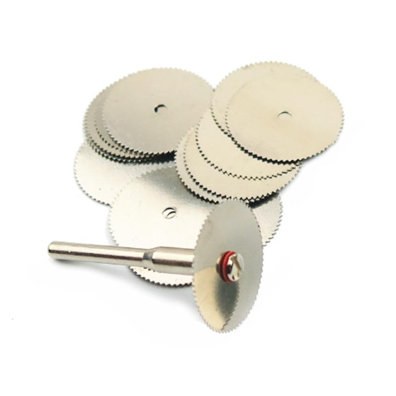 10 pz dremel mini sega circolare disco abrasivo lame hss strumento ruota di taglio strumenti per intaglio del legno utensile da taglio rotante lavorazione del legno