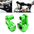 """2x 16 Styles Anodized 2-1/4"""" Pivoting Motorcycle 7/8"""" (22mm) /1-1/8"""" (28mm) Handlebar Riser Clamps For Kawasaki KLR 250 600 650"""